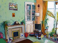oil on linen, Brynmill, Swansea, Wales Swansea Wales, Fly On The Wall, John Piper, Painted Ladies, Through The Window, Inspiring Art, Woman Painting, South Wales, Room Paint