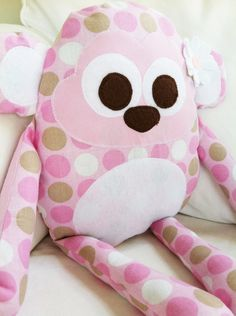Toy Sewing Pattern  Monkey Pillow  PDF by GandGPatterns on Etsy, $9.00