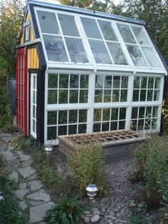 window greenhouse for side of workshop/shed that I want in backyard! What Is Greenhouse, Greenhouse Farming, Window Greenhouse, Build A Greenhouse, Greenhouse Ideas, Greenhouse Gases, Greenhouses For Sale, Workshop Shed, Organic Farming