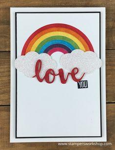 Love You    #Stampersworkshop #stampinup #stamping #cards #cardmaking #rainbow #rainbowbuilder #sunshinewishes
