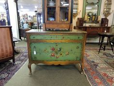 Painted Italian Three Drawer Chest | Olde Mobile Antique Gallery