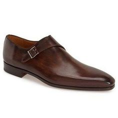 Men Brown Single Monk Handmade Genuine Leather Shoes Description: Below are the main features of the product - Genuine Leather- Handmade Leather Shoes- Beautiful Brown Single Monk Strap leather Shoe Style- High Quality Premium Leather Shoes Mens Fashion Shoes, Shoes Men, Men Dress Shoes, Men's Shoes, Men's Fashion, Hot Shoes, Fashion Dresses, Gentleman Shoes, Brown Dress Shoes