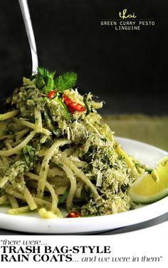 ... kaffir lime leaves, shallots, garlic, green chilis, fresh mint, lime