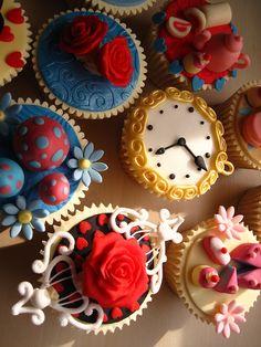 Vintage Tea Party Cupcakes