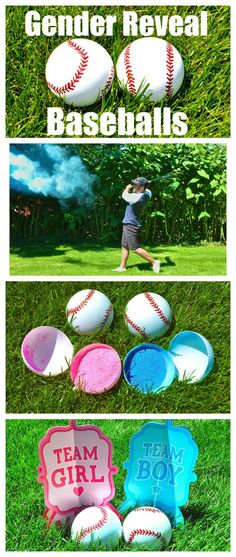 Gender Reveal Baseballs! Such a cute gender reveal idea!!