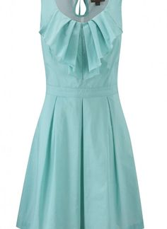 Teal/Turquoise Day Dress - Fever Ruffle Dress Mint | UsTrendy