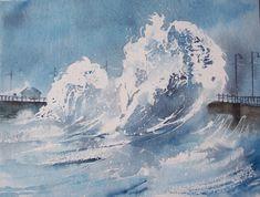 Watercolour painting 'Stormy Seas'