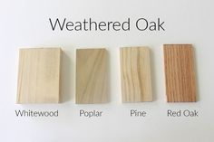 How 10 Different Stains Look on Different Pieces of Wood - Within the Grove Weathered Grey Stain, Diy Wood Stain, Stain On Pine, Wood Stain Colors, Grey Paint Colors, Oak Stain, Minwax Stain, Dresser Refinish, Refinished Dressers