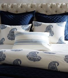 Brilliant blues for the bedroom.