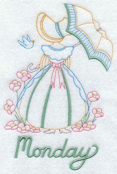 Umbrella Girl on Monday design (G2358) from www.Emblibrary.com