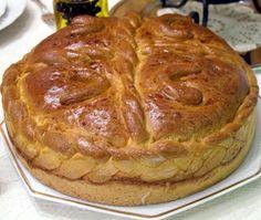 Serbian Christmas Bread! Yum! I got the coin this year :)