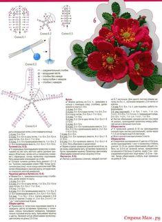 54 ideas for crochet lace necklace pattern beads Crochet Bouquet, Crochet Brooch, Crochet Motif, Crochet Doilies, Crochet Leaves, Knitted Flowers, Flower Chart, Motifs Roses, Crochet Embellishments