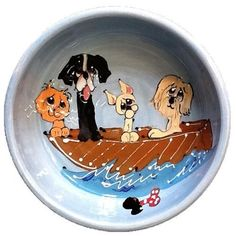 Downwind Whiskers Dog Bowl