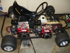 Twin engine AWD go kart.