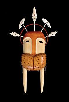 yup'ik walrus transformation mask, Alaska