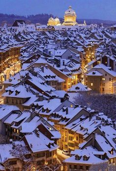 Berne, Switzerland. Holiday card perfection.