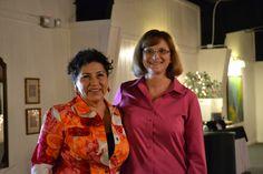 Brenda Schmachtenberger, San Antonio OASIS Executive Director, right, and Chris Alderete, San Antonio OASIS Board President.
