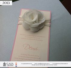 Cute flower invitations, perfect for christening or wedding....