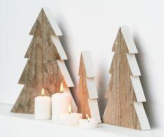 Il bosco di Natale - white christmas Handmade by Nuvole di Legno (Italy) www.nuvoledilegno.it
