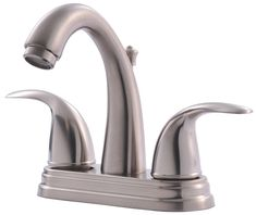 Ultra Faucets Centerset Bathroom Faucet with Double Handles Finish: Brushed Nickel Lavatory Faucet, Bathroom Sink Faucets, Home Hardware, Contemporary Decor, Brushed Nickel, Cleaning Wipes, 3 D, Home Improvement, Handle