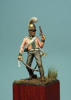 French lancer trumpeter - 1815 - Virtual Museum of Historical Miniatures Military Modelling, Virtual Museum, Polymer Clay Miniatures, Miniature Figurines, Napoleonic Wars, Figure Model, Toy Soldiers, Pictures To Draw, Warriors