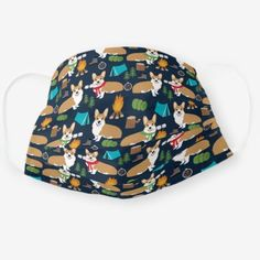Corgi camping dog cloth face mask   #DIY #outdoors #photography camping gear, camping decorations, camping food, back to school, aesthetic wallpaper, y2k fashion Pet Vet, How To Protect Yourself, Health And Safety, Snug Fit, Sensitive Skin, First Love, Corgi, Camping Tools, Camping Recipes