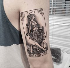 Tarot tattoos strength