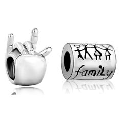 Pugster 2 Love Bead Charm Bundle Set Silver I Hand Sign Family Life Beads Fits Pandora Bracelet Pugster. $12.99. Weight (gram): 3.85. Size (mm): 11.16*7.76*8.99. Color: Colorful. Metal: Two Tone