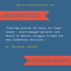 Go Here: http://www.wired.com/wiredscience/2014/03/neuroscience-decision-making-explained-30-seconds/ to quickly learn more the neuroscience of decision making.  #neuroscience #DecisionMaking #psychology