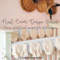 The boho nursery you've been dreaming of. Our Natural and White Macrame Baby Bedding set is a Decor 2 Ur Decor EXCLUSIVE. We adore the texture of the macrame featured on the rail cover and crib skirt. We're in boho baby bedding heaven. Woodland Baby Bedding, Woodland Nursery Girl, Boho Nursery, Nursery Decor, Girl Crib Bedding Sets, Girl Cribs, Baby Cribs, Nursery Bedding, Crib Rail Cover