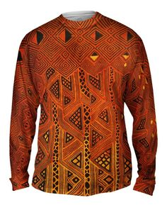 5a3a837485b5e African Tribal Kuba Cloth Triangles all-over printed Mens Long Sleeve by  Yizzam. Made in the USA with the finest quality fabrics and enviro-safe  dyes.