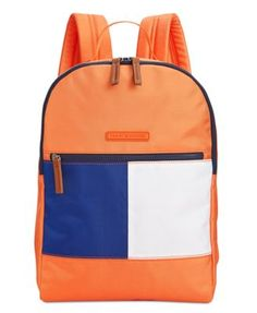 TOMMY HILFIGER Tommy Hilfiger Colorblock Flag Nylon Backpack. #tommyhilfiger #bags #leather #lining #nylon #backpacks #