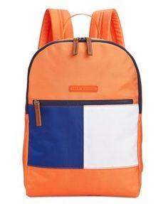TOMMY HILFIGER Tommy Hilfiger Colorblock Flag Nylon Backpack. #tommyhilfiger #bags #leather #lining #nylon #backpacks #