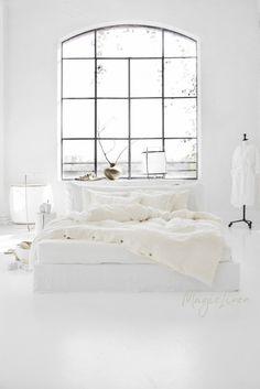 Bed Linen Sets, Linen Duvet, Linen Fabric, Natural Bed Sheets, White Bed Sheets, Fitted Sheets, White Bedroom Decor, Bedroom Inspo, Bedrooms