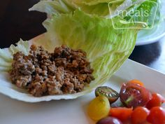 Cheeseburger Lettuce Wraps recipe | Once A Month Meals - only WW+ Points 5 #freezercooking #lunch #diet