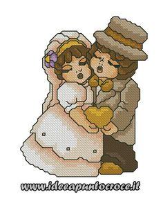 Sposi Thun punto croce