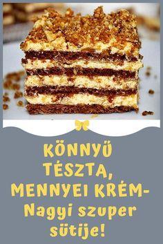 Karácsonyra is remek! #krém #tészta Hungarian Desserts, Hungarian Recipes, Sweet Desserts, Delicious Desserts, Cookie Recipes, Dessert Recipes, Cake Decorating Videos, Homemade Cookies, Pavlova