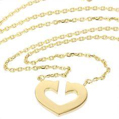 Cartier 18K Yellow Gold C Heart Cartier Pendant Necklace