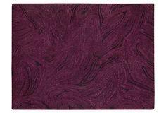 Marcus Rug in Mulberry like purple malachite