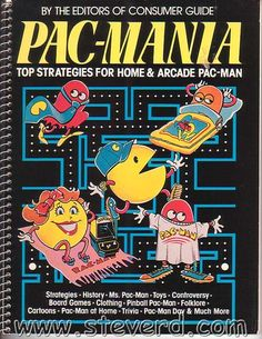 """Pac-Mania By the Editors of Consumer Guide 1982 and 64 pages   This is a must have book for all Pac-man collectors. Contains patterns from different players Ms. Pac-man info with """"Danger zones"""" photo Pac-man Pinball Atari VCS Pac-Man and patterns for the cartridge Coleco Tabletop Pac-man and patterns Pac-man hand-helds and board games Pac-man clothing (nice!) Promotional items Pac-man Day Pac-man and the Law  This book is GREAT!!!!! #PacMan"""