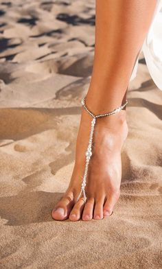 Beach wedding Barefoot sandals Beaded Barefoot sandals Pearl
