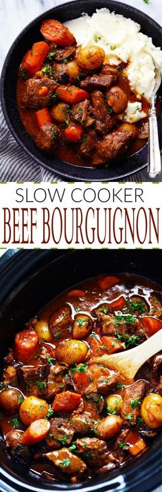 Slow Cooker Beef Bourguignon - 30 Crock Pot Recipes that you have to try this year 2018 - Lieu.Tech