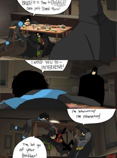 poor confused Bruce. How do you adopt 10 kids and still know nothing about parenting? Incredibles/Batfam  I don't get it xD