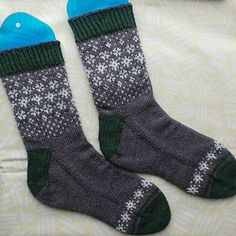 """Another winter without snow and green Christmas days inspired me to create """"Wishing for Snow Socks"""". Knit Socks, Knitting Socks, Green Christmas, Ravelry, Snow, Patterns, Winter, Inspiration, Stockings"""