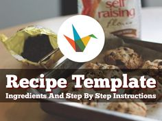 A simple, flexible recipe presentation template to share step by step instructions on how to make something. Ideas: embed in a blog or website, post to social media channels, email to family and friends.