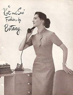 Botany knitting pattern from 1950s