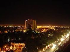 yucatan mexico ciudad Mérida de Noche.