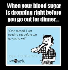 Blood sugar dropping...