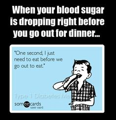 Blood sugar dropping...