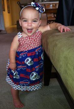 Buffalo Bills 3pc Creeper Bodysuit Set Infant Baby Tiny Fan 0-3 Months